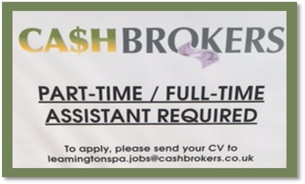 Part Time Cleaner. Leamington Spa, Warwickshire; Starting at £ per hour ; Sarah Bradley; We have an exciting new vacancy for a Part Time team member working Mondays, Tuesdays, and Fridays .