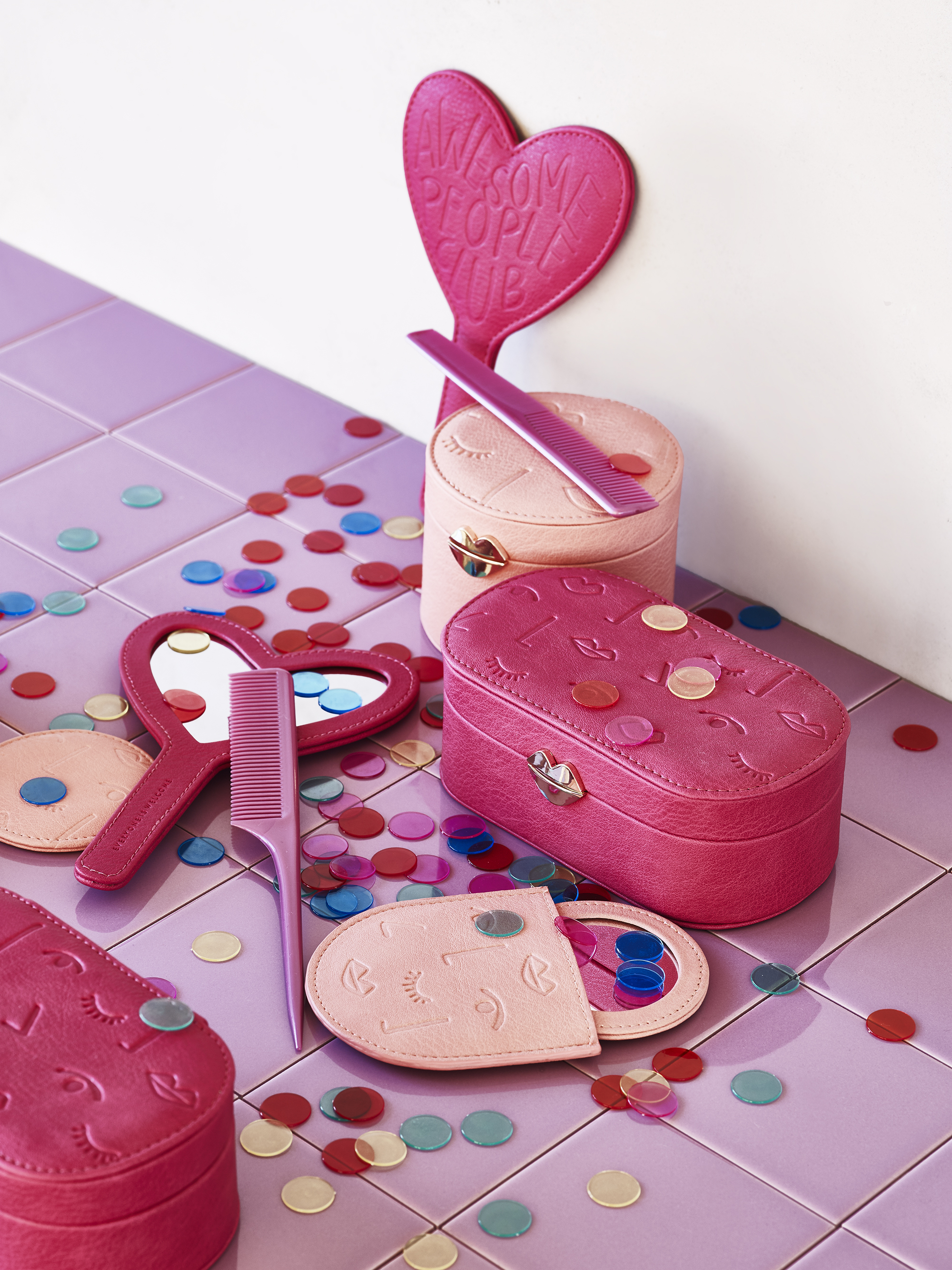 Awesome People Heart Compact Mirror £12; Play Oblong Jewellery Box £22; Play Compact Mirror £10 DUE FEBRUARY