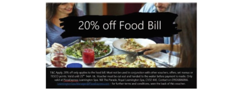 Eat Drink Offers Royal Leamington Spa